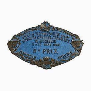 Blue Concours Agricole Varennes-sur-Allier Sign, 1989
