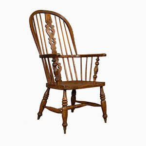 Antique Victorian British Elm and Ash Windsor Chair, 1860s
