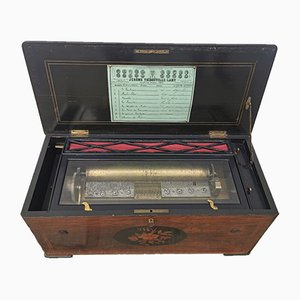 Antique Rosewood Music Box from Jérôme Thibouville-Lamy, 1860s