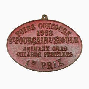 Roter Landwirtschaftswettbewerb Saint-Pourçain-sur-Sioule Sign, 1988