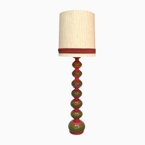Lámpara de pie alemana grande de cerámica esmaltada de Kaiser Idell / Kaiser Leuchten, años 60