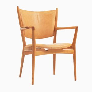 Lounge Chairs by Hans Wegner, 1990s, Set of 8