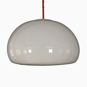 Space Age Glass Sunset Pendant Lamp by Per Lütken for Holmegaard, 1980s