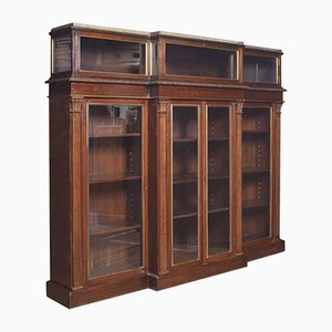 19th Century Breakfront Display Bookcase