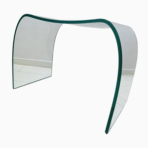 Italian Transparent Glass Ghost Chair or Ottoman by Cini Boeri for Fiam, 1987