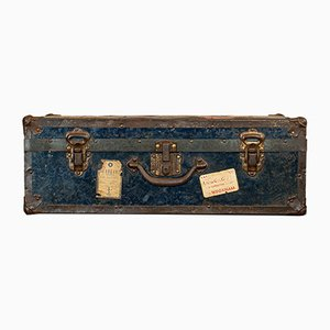 Antique Edwardian English Steamer Travel Trunk, 1910s