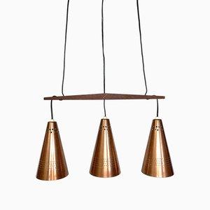 Copper Pendant Lamp by Hans-Agne Jakobsson for Hans-Agne Jakobsson AB Markaryd, Sweden, 1950s