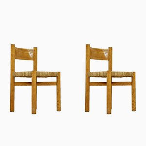 Mid-Century Meribel Chairs by Charlotte Perriand, 1950s, Set of 2