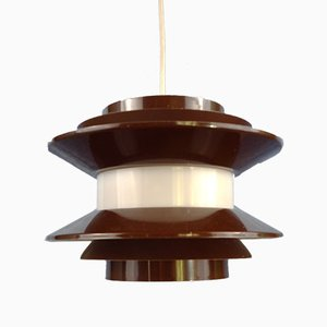 Mid-Century Chocolate Colored Pendant Lamp by Carl Thore / Sigurd Lindkvist for Granhaga Metallindustri, 1970s