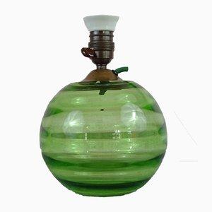 Lámpara de mesa sueca Mid-Century de vidrio de uranio