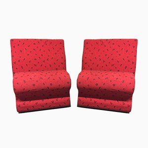 Vintage Lounge Chairs by Albert Stoll for Giroflex, 2001, Set of 2