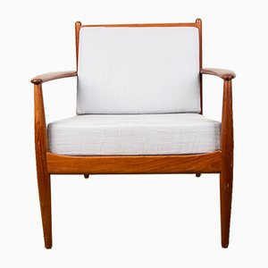 Danish Teak Lounge Chairs by Grete Jalk for France & Søn / France & Daverkosen, 1960s, Set of 2