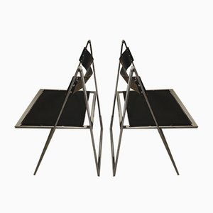 Elios Folding Chairs by Fontoni & Braci for Elios, 1950s, Set of 3