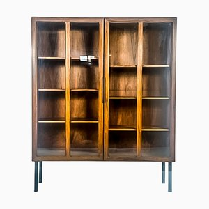 Danish Rosewood and Glass Cabinet by Ib Kofod Larsen for Faarup Møbelfabrik, 1960s