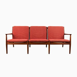 Danish Teak 3-Seater Sofa by Svend Åge Eriksen for Glostrup, 1960s