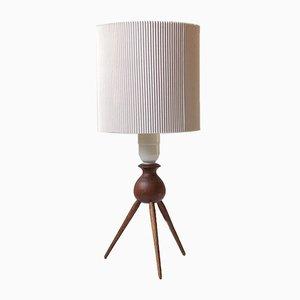 Lampe de Bureau Tripode Mid-Century en Teck par Severin Hansen pour Haslev Møbelsnedkeri, 1960s