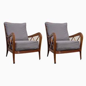 Lounge Chairs by Paolo Buffa, 1950s, Set of 2