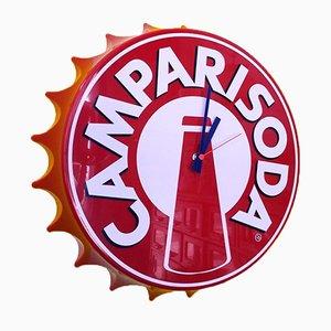 Reloj de pared Campari Soda en rojo