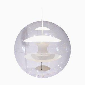 Mappamondo in vetro opalino di Verner Panton per Verpan, anni '90