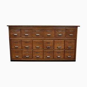 Vintage Dutch Oak Apothecary Cabinet, 1940s