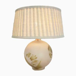 Vintage Glass Ball Table Lamp, 1960s