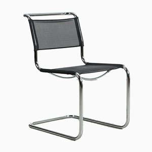 Bauhaus Black S 33 N Cantilever Chair by Mart Stam for Thonet, 2012
