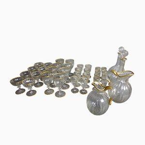 Vintage Glass Service from Daum Nancy, Set of 32