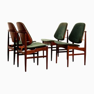 Teak Dining Chairs by Arne Hovmand-Olsen & Jutex, 1950s, Set of 4