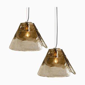 Lámpara colgante de Carlo Nason para Mazzega, años 70