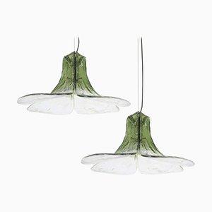 Lampe à Suspension Modèle LS185 par Carlo Nason pour Mazzega, 1970s
