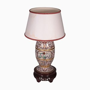 Chinesische Vintage Cloisonnè Tischlampe aus Bronze
