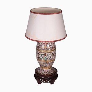 Lampada da tavolo Cloisonnè vintage in bronzo, Cina