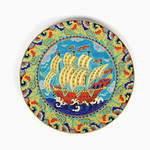 Vintage Enamel Dish from Longwy