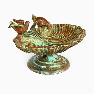 Vintage Shell DIsh in Patinated Cast Iron