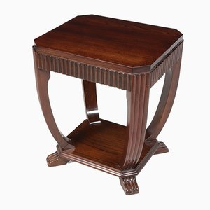 Art Deco French Oak Side Table, 1930s