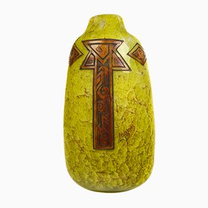 Antique Egg-Shaped Vase by FT Legras