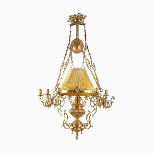 Napoleon III Chandelier in Gilt Bronze, 1870s