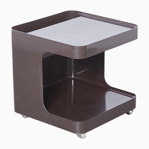 Brown Game Mini Bar Side Table by Marcello Siard for Collezioni Longato, Padova Italy, 1970s