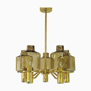 Brass Ceiling Lamp Model T507 by Hans-Agne Jakobsson for Markaryd, 1960s