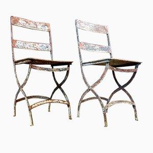 Bistro Stuhl aus Eisen, 1920er