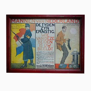 Men of Netherlands War Mobilization Poster, 1914