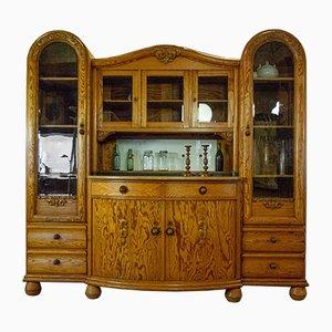 Mueble de cocina grande de tres piezas para platos, años 30