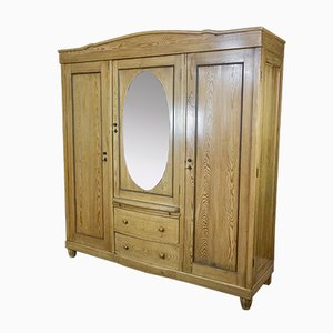 Art Deco Style Pine Wardrobe with Mirror