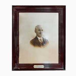 Photo of a Man with Large Decorative Frame, 1920s