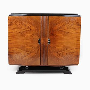 Art Deco French Walnut Sideboard, 1920s