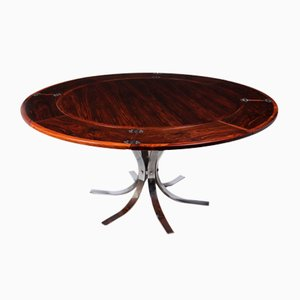 Danish Modern Rosewood Flip Flap Lotus Dining Table from Dyrlund, 1960s