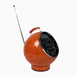 Orange Model 2001 Space Ball Radio from Weltron, 1970s