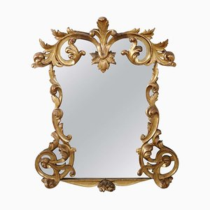 Antique Carved Gilded Wood Wall Mirror, 1880s