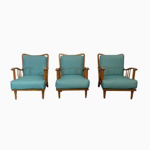 Maple Lounge Chairs by Paolo Buffa, 1950s, Set of 3