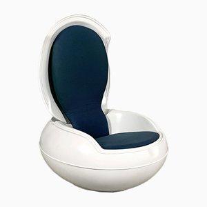 Blauer Modell GN1 Garten Egg Chair von Peter Ghyczy für VEB, 1970er